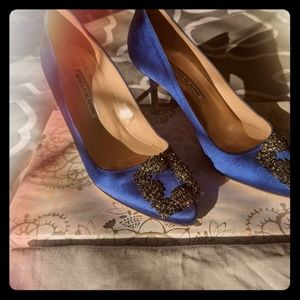 "Like New Manolo Blahnik Hangisi 3"" pumps"